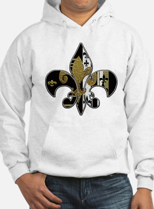 Fleur de lis bling black and gold Jumper Hoody