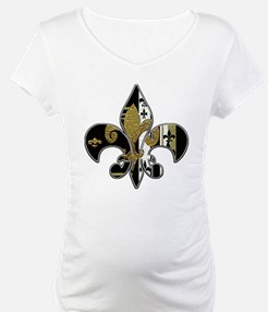 Fleur de lis bling black and gold Shirt