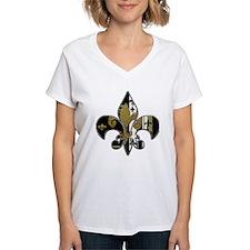 Fleur de lis bling black and gold Shirt