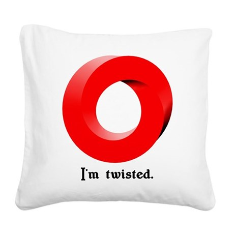 zimtwisted01.png Square Canvas Pillow