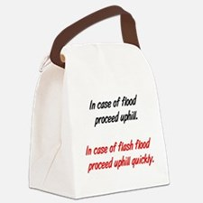 proceeduphill01.png Canvas Lunch Bag