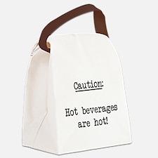 hotbeverages01.png Canvas Lunch Bag