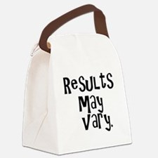 resultsmayvary01.png Canvas Lunch Bag