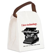 ztypewriter01.png Canvas Lunch Bag