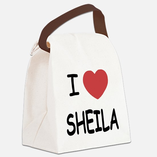 I heart SHEILA Canvas Lunch Bag