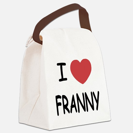 FRANNY.png Canvas Lunch Bag
