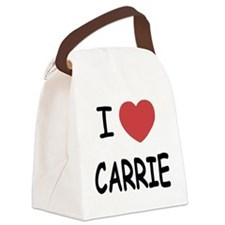 I heart CARRIE Canvas Lunch Bag