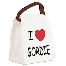 I heart GORDIE Canvas Lunch Bag