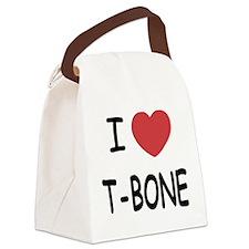 I heart T-BONE Canvas Lunch Bag