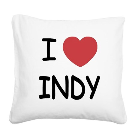 INDY.png Square Canvas Pillow