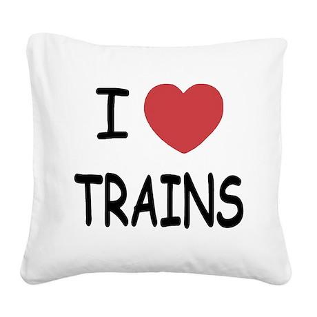TRAINS.png Square Canvas Pillow