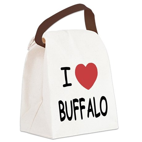 BUFFALO.png Canvas Lunch Bag