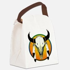 buffalo skull Canvas Lunch Bag