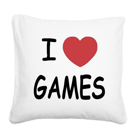 GAMES.png Square Canvas Pillow