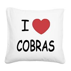 COBRAS.png Square Canvas Pillow