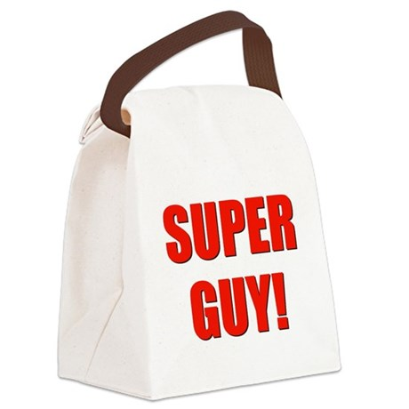 SUPERGUY.png Canvas Lunch Bag