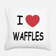 WAFFLES.png Square Canvas Pillow