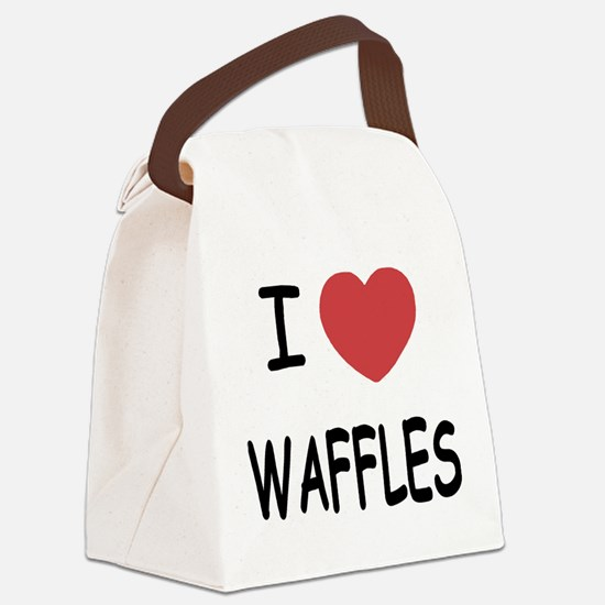 WAFFLES.png Canvas Lunch Bag