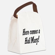 herecomesahailmary.png Canvas Lunch Bag