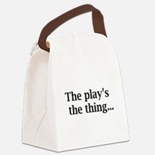 theplaysthething.png Canvas Lunch Bag