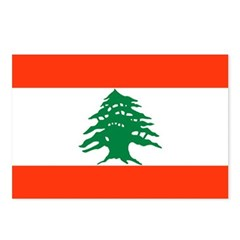 Lebanon Flag Postcards (Package of 8)