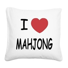 MAHJONG.png Square Canvas Pillow