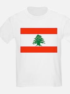 Lebanon Flag Kids T-Shirt