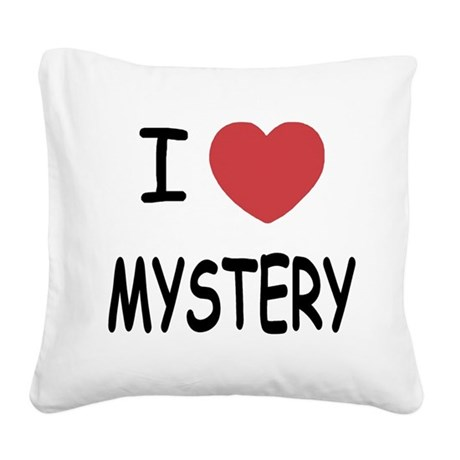 MYSTERY.png Square Canvas Pillow