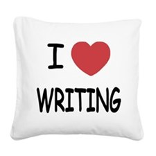 WRITING.png Square Canvas Pillow