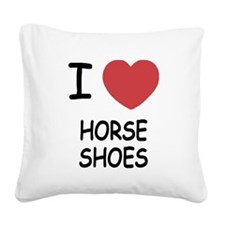 HORSESHOES.png Square Canvas Pillow