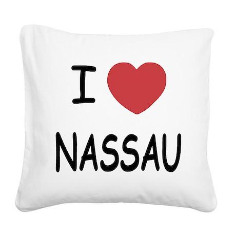 NASSAU.png Square Canvas Pillow