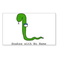 Snakes with No Name Rectangle Decal