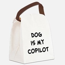dogismycopilot.png Canvas Lunch Bag