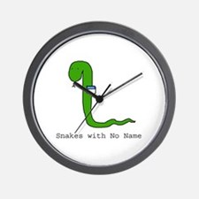 Snakes with No Name Wall Clock