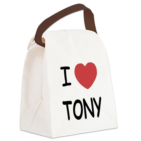 TONY.png Canvas Lunch Bag