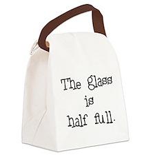 theglassishalffull.png Canvas Lunch Bag