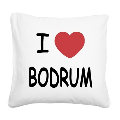 BODRUM.png Square Canvas Pillow