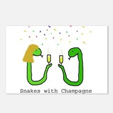 Snakes with Champagne Postcards (Package of 8)