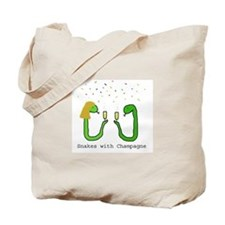 Snakes with Champagne Tote Bag