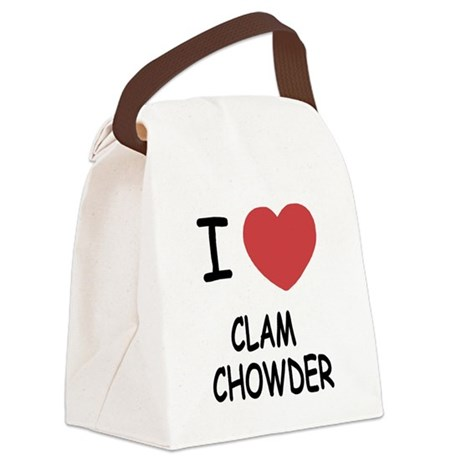 CLAMCHOWDER.png Canvas Lunch Bag