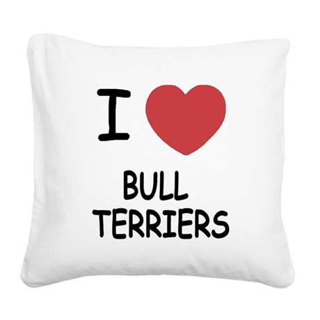 BULLTERRIERS.png Square Canvas Pillow