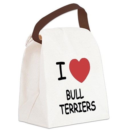 BULLTERRIERS.png Canvas Lunch Bag