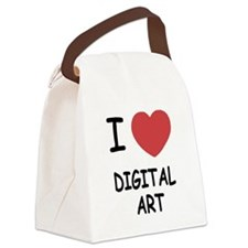 DIGITALART.png Canvas Lunch Bag