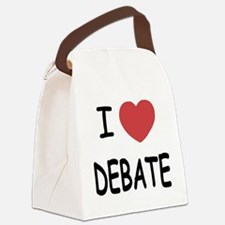 DEBATE.png Canvas Lunch Bag