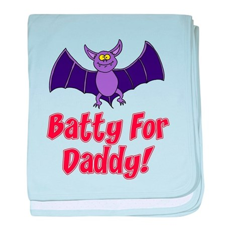 Batty For Daddy baby blanket