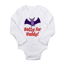 Batty For Daddy Long Sleeve Infant Bodysuit