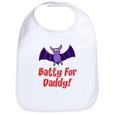 Batty For Daddy Bib