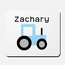 Zachary - Light Blue Tractor Mousepad