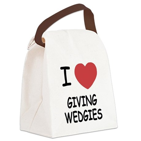 GIVING_WEDGIES.png Canvas Lunch Bag
