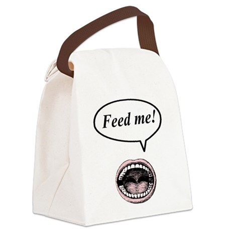feed_me.png Canvas Lunch Bag